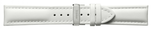 22mm Leather Strap - White