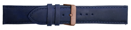 22mm Vintage Blue Leather