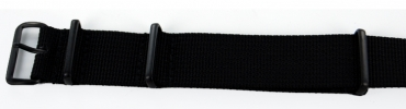 22mm Nato - Black PVD Fastenings
